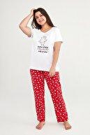 Penti Kadın Kırmızı Milkshake Ss Pantalon Pijama Set