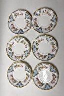 TURKUAZ 6 Lı.porselen Çay Tabağı