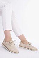 Marjin Kadın Hakiki Deri Comfort Ayakkabı Demasbej
