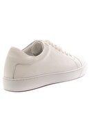 GRADA Kadın Beyaz Hakiki Deri Düz Taban Sade Deri Sneaker Ayakkabı