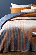 English Home Artgeo Pamuklu Tek Kişilik Battaniye 150x200 Cm Kiremit