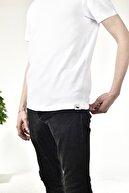 Black Ewe Erkek Beyaz Bisiklet Yaka Basic T-shirt