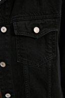 TRENDYOLMİLLA Siyah Oversize Denim Ceket TWOAW21CE0300