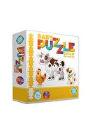 Circle Toys 27 Parça Circle Toys Baby Puzzle Seti 12 Adet Çiftlik Hayvanları