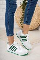 ALEXANDER SİNAN Unisex Beyaz Yeşil Sneaker