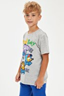 Defacto Erkek Çocuk Kral Şakir Lisanslı Dokunmatik Işıklı Kısa KolluTişört