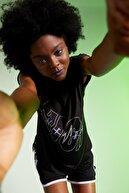 Defacto Kadın Siyah Slogan Baskılı T-Shirt