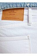 Jack & Jones Erkek Beyaz Jean Pantolon