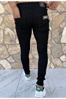 Dr Dnm Remix Erkek Jeans Skinny Fit Likralı Düz Siyah