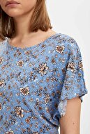 Defacto Kadın Mavi Regular Fit Kısa Kollu Bluz N5527AZ.20SP.BE419