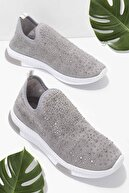Bambi Gri Kadın Sneaker K01671672087