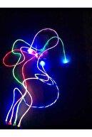ECICO Ledli(ışıklı) Şarj Kablosu -mıknatıs Özelliği 3 Ayrı Uç(type-c,ios,anroid)