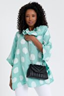 Ludo Vico Kadın Siyah Dikiş Detaylı Kapitone Çapraz Askılı Çanta