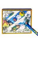 Esmay Sihirli Boyama Kitabı Magic Water Etkinlik Kitabı Sulu Kalem Ile Boyama 128-1
