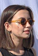 Meveda Kadın Gold Minik Toplu Gözlük Zinciri Ve Güneş Gözlüğü Aksesuarı