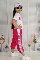 Riccotarz Kız Çocuk Pembe Sports Cap Eşofman Takım