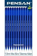 Pensan Büro 1.0 Mm Mavi Tükenmez Kalem 12 Adet
