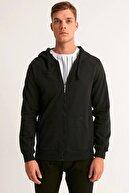 Fullamoda Fermuarlı Kapüşonlu Sweatshirt