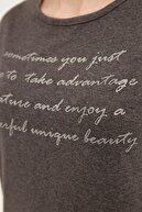 Fullamoda Simli Yazı Baskılı Tişört