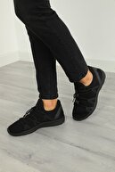 Julude Erkek Siyah Bağcıklı Spor Ayakkabı