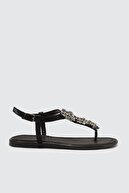 Trendyol Shoes Siyah Taşlı Kadın Sandalet TAKSS21SD0005