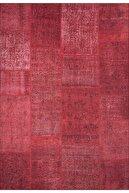 ARTLOOP Patchwork Desenli Salon Halısı, Jazz Şönil |pamuk-polyester| Kırmızı Halı Al 164