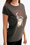 Fullamoda Coffee Baskılı Tshirt