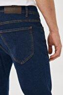 Altınyıldız Classics Erkek Lacivert Slim Fit Dar Kesim Denim Esnek Jean Kot Pantolon