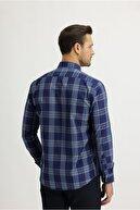 Kiğılı Uzun Kol Ekose Slim Fit Gömlek