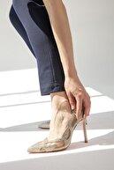 Flower Sand Süet Taşlı Abiye Ayakkabı