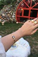 Takimakstore Çağla Şikel Kolye-Bileklik Seti Çelik Üzeri Altın Kaplama Gold Italyan (KARARMAZ-PASLANMAZ)
