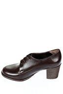 GÖNDERİ(R) Hakiki Deri Kahve Antik Kadın Klasik Topuklu Ayakkabı 24071