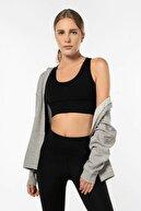 Lioness Activewear Siyah Yüksek Destekli Sırt Detaylı Kaplı Spor Sütyeni