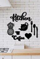 Balımo Kitchen 9 Parça Mutfak Lazer Kesim Ahşap Duvar Dekorasyon Ürünü Bltbl010