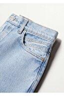 Mango Kadın Açık Mavi Mom Kesim Jean Pantolon