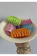 KİLİG Kadın Pembe 6'lı Rengarenk Mandal Toka Seti