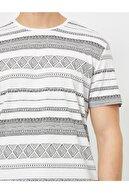 Koton Erkek Beyaz Desenli T-Shirt 0YAM11661CK