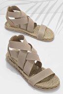 Bambi Bej Kadın Sandalet K05682020215