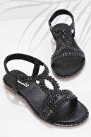 Bambi Siyah Kadın Sandalet K05913025236