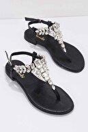 Bambi Siyah Kadın Sandalet K05544006536