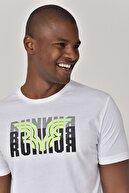 bilcee Beyaz Erkek T-shirt  GS-8811