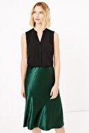 Marks & Spencer Kadın Siyah V Yaka Bluz T43002510