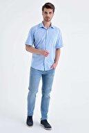 Hatemoğlu Kareli Klasik Mavi Gömlek