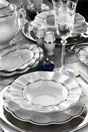 Kütahya Porselen Nil 83 Parça 6274320 Desen Yemek Takımı NIL83YT4306274320