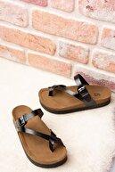 Fox Shoes Siyah Kadın Terlik B777753008
