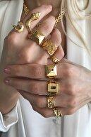 Bonnjerra Jewellery Altın Kaplama Örgü Yüzük