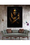 Hobimania Kanvas Tablo Afrikalı Kadın Amazon 50x70 Cm Duvar Dekorasyon Moda Tablo