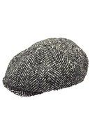 RV Erkek Gri 8 Köşeli Kasket Şapka