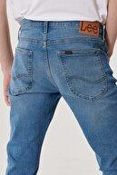 Lee Luke Erkek Açık Mavi Slim Düşük Bel Dar Paça Esnek Jean Pantolon