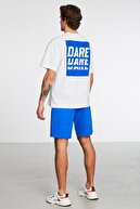 GRIMELANGE Spotlıght Erkek Beyaz Baskılı Bisiklet Yaka T-shirt